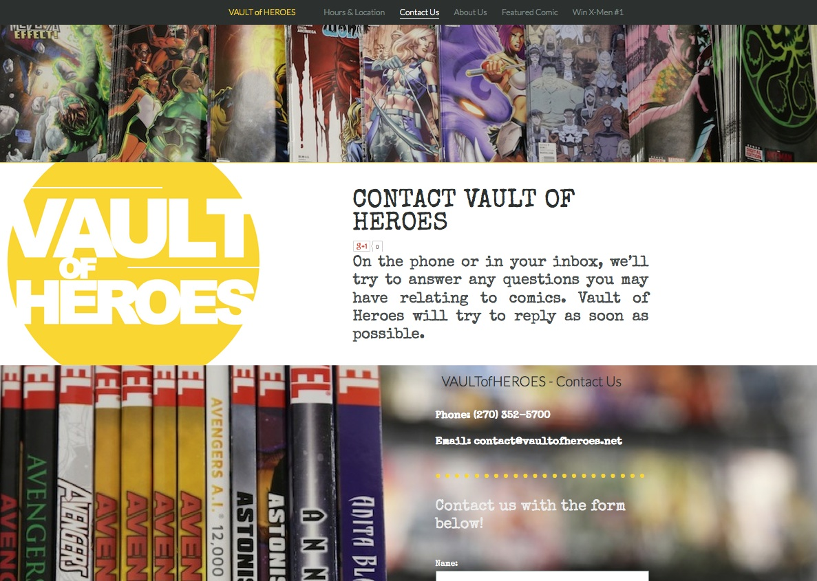 Comic Book Store Website Development